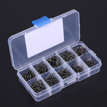 200/300/400/500/600pcs Fishing Hook Jig Hooks with Hole Fly Fishing Tackle Box Durable Carbon Steel Fishhooks Fishing Tools