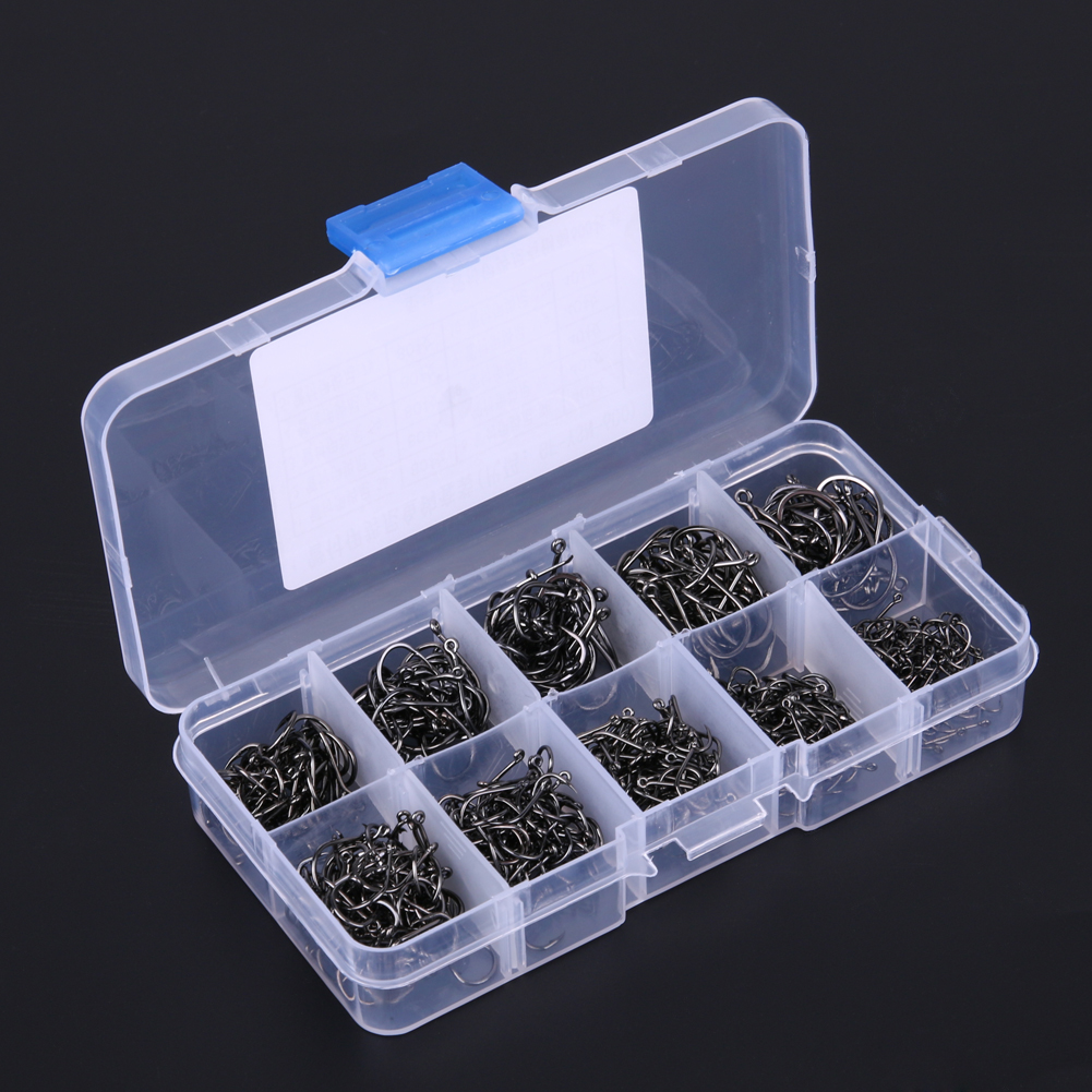 200 300 400 500 600pcs Fishing Hook Jig Hooks with Hole Fly Fishing font b Tackle