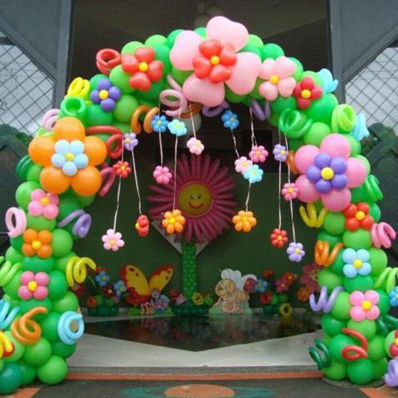 Baby child birthday party decoration balloon arches opening