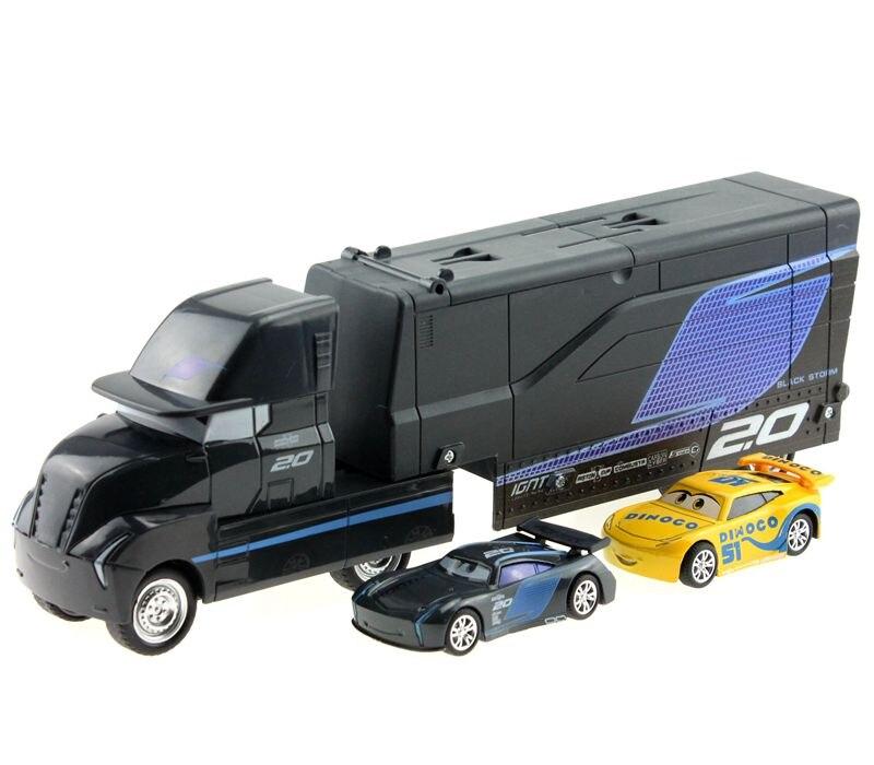 Disney Pixar Cars 3pcs/lot Jackson Storm Cruz Ramirez Mack Truck 1:55 Diecast Metal Alloy And Plastic Modle Car Toys For Kids