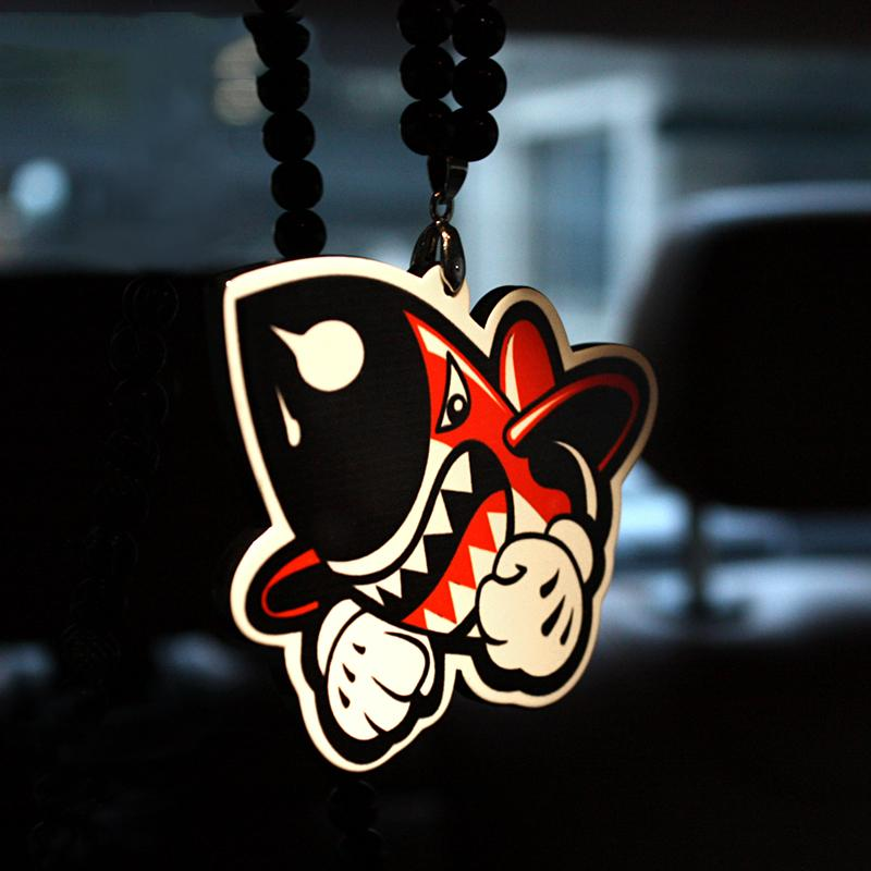 Fashion Car Interior Styling Ornaments Shark Missile Design Funny Decor Pendantfunny Gadget