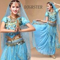 DJGRSTER Costume Bollywood Costume Indian Dress bellydance Dress Women Belly Dancing Costume Sets Tribal Skirt 2 3pcs/set