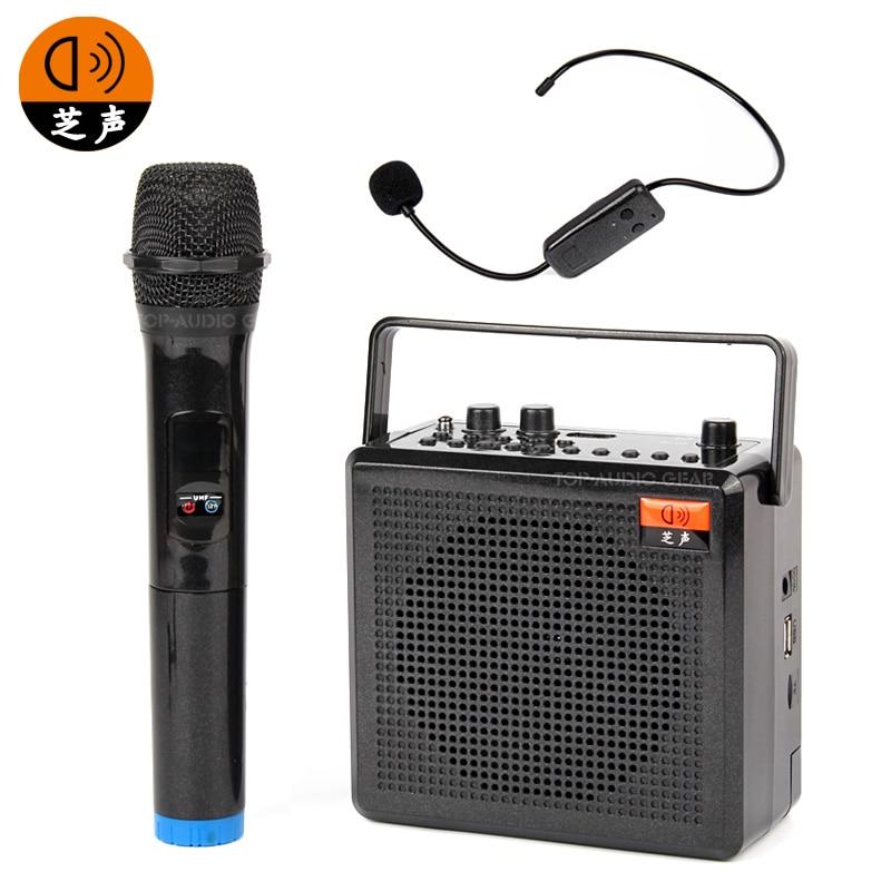 Free Shipping Portable Wireless Voice Amplifier Handheld Headset Mic Teaching Speaker Megaphone Teacher Coach Guide Loudspeaker