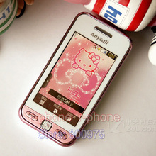 Original Refurbished Unlocked SAMSUNG Hello kitty S5230 S5230c Mobile Phone & One year warranty