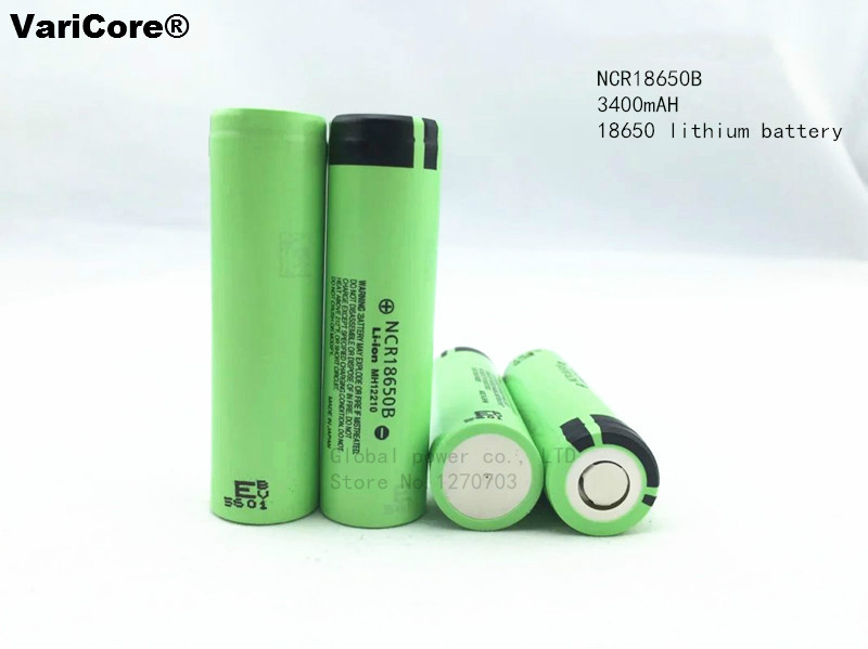 New Original 18650 NCR18650B Rechargeable Li-ion battery 3.7V 3400mAh For Panasonic Flashlight batteries use panasonic ncr18650b super max 3 7v 3400mah rechargeable li ion battery black green