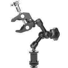 Magic Arm 7 дюймовый шарнирный фрикционный рычаг, супер зажим, регулируемый стержень, зажим, плоскогубцы, зажим с резьбой 1/4 дюйма и 3/8 дюйма для