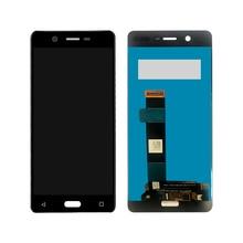 Pantalla lcd con montaje de digitalizador con pantalla táctil, piezas de repuesto, probado, para Nokia 5, N5, TA 1008, TA 1030, TA 1053