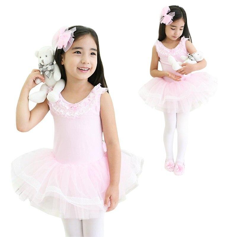 Kids Girls Ballet Performance Dancing Dress Gymnastics Sleeves Skirts Leotards