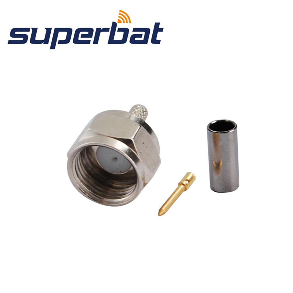 Superbat F Plug Male Straight Crimp For RG179,RG174,RG178,RG316 Cable RF Coaxial Connector