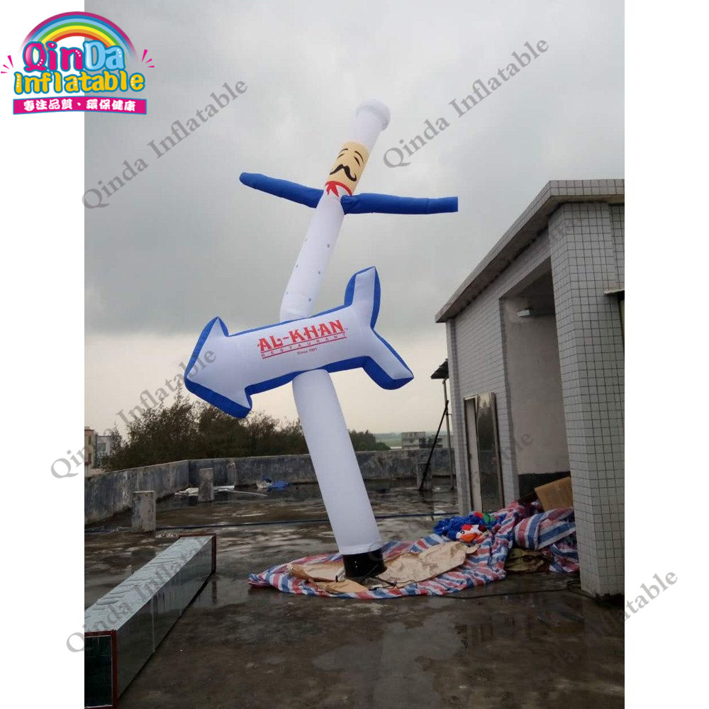 Mini inflatable sky air dancer dancing man ,cooker shape Inflatable waving man for advertisement цена и фото