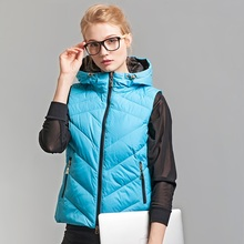 Ultra Light Women's Vest Winter Duck Down Padded Waistcoats Women Fashion Quality Branded Hooded Down Vests Ladies VT-169