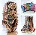 Весна женщин мягкого хлопка над размером длиной макси шаль хиджаб глава wrap мусульманин шарфы/шарф 10 шт./лот
