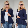Women Winter Woolen Blazer Jacket Coat 2016 Ladies Long Sleeve Cardigan Woolen Blazer Slim Basic Jacket Coat Blaser femme