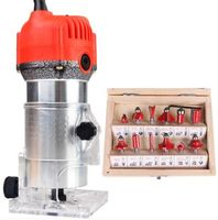 300W to 600W Aluminum housting power tools woodworking trimmer slot machine woodworking tools engraving with 12 pcs die sets