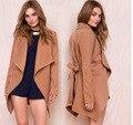 New Winter Fashion Wild long-Sleeved Woolen Jacket and Long Sections Women Windbreaker Lace Coat