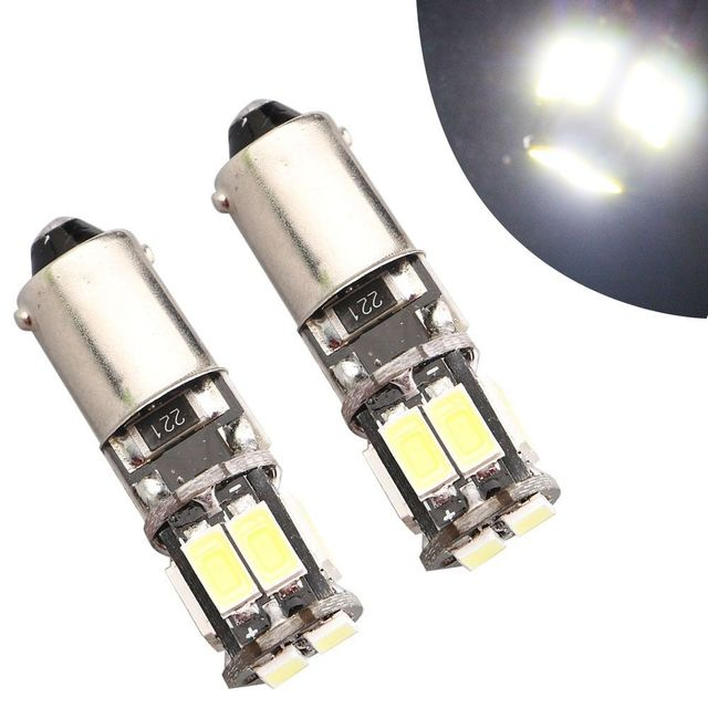 map on door 4pcs 10smd 5630 ba9s 6253 64111 t11 t4w canbus led bulbs map door