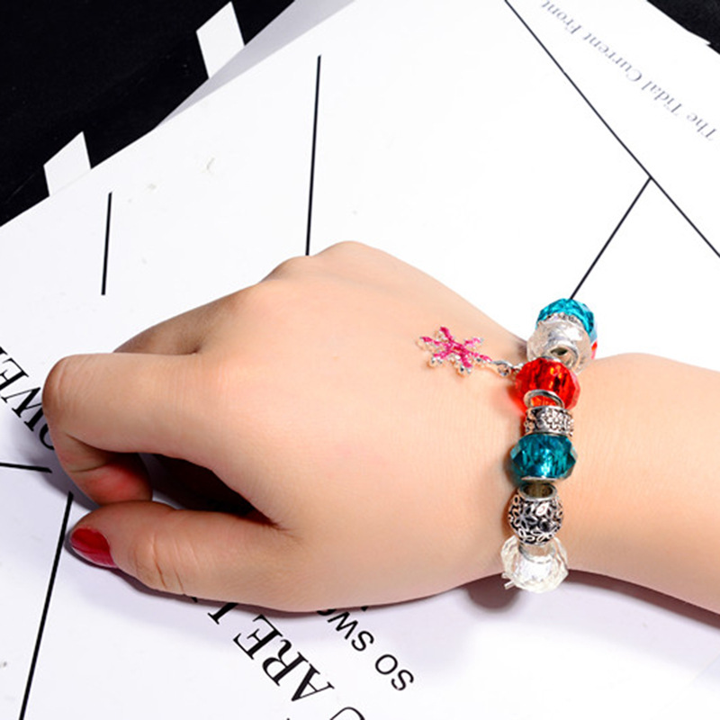 Fashion Sea Star Large Hole Bead Bracelet Handmade Creative Bracelet For Woman Girl Child Children Chritmas Gift