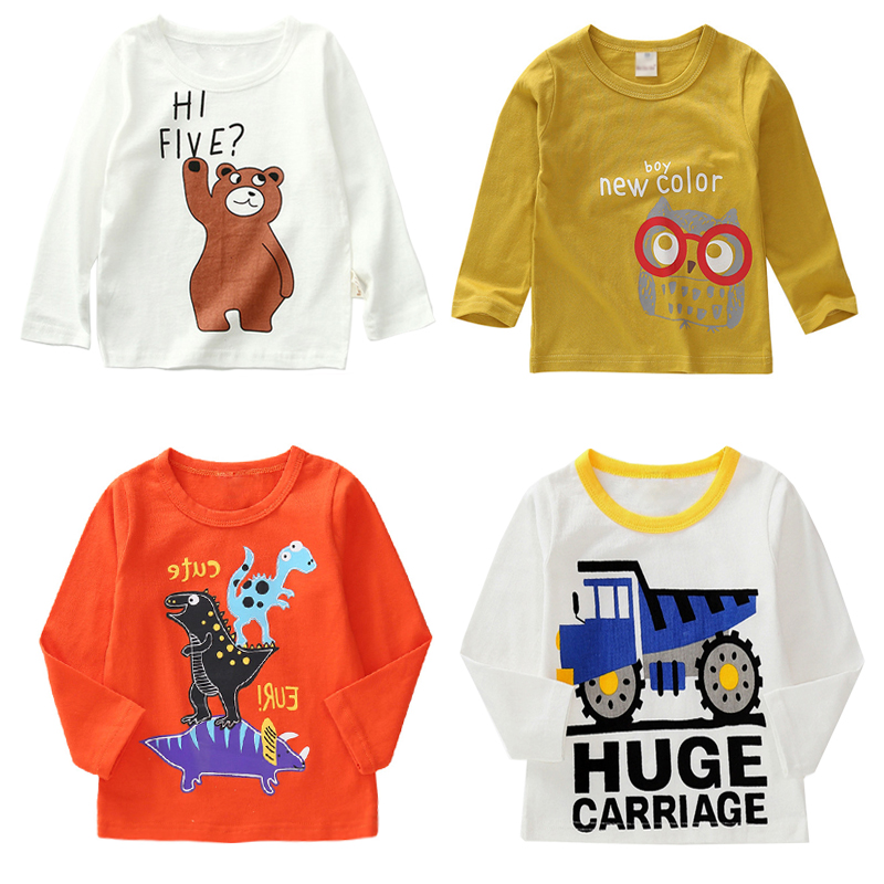 New Spring Boys Girls Cartoon Cotton T Shirts Children Tees Boy Girl Long Sleeve T Shirts Kids Tops Brand Baby Clothes 12M-8Y набор елочных игрушек muza ангелы 3 предмета