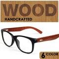 Johnny depp óculos de alta qualidade de madeira armações de óculos óptica prescrição de óculos armação de óculos de Marca quadros gafas hombre