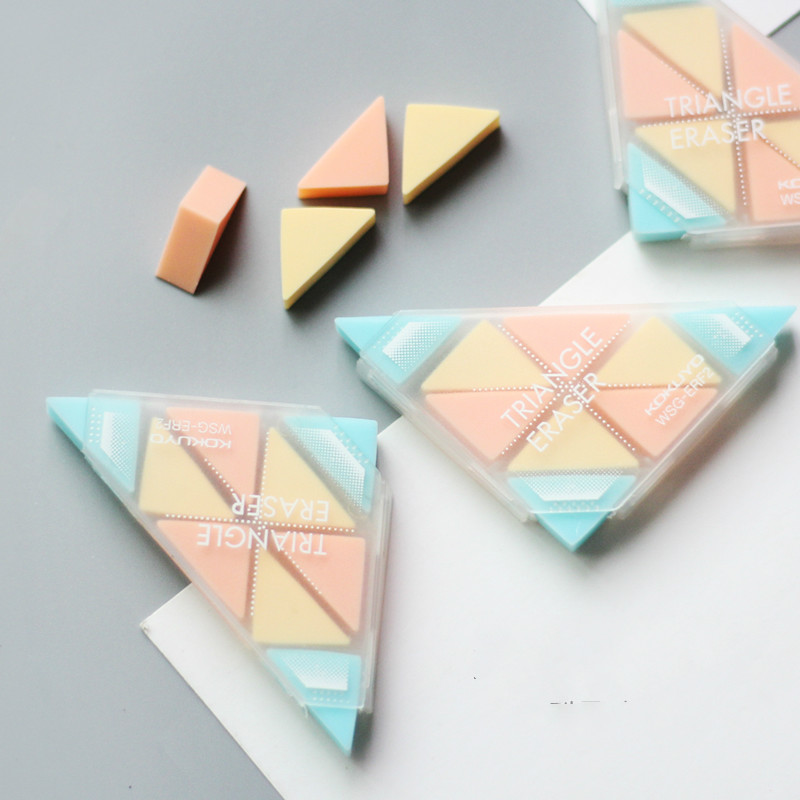 Funny Triangle Eraser Pencil Eraser Students Stationery School Supplies Material Escolar Erasers For Kids