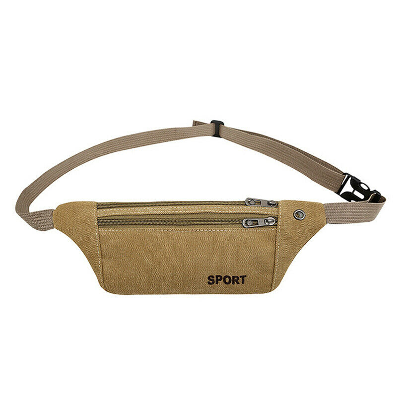 Men's And Women's Classic Pockets Solid Color Casual Sports Belt Bag Heuptas Fanny Pack
