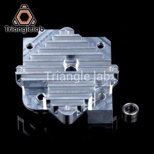 Image 3 - Запчасти для 3D принтера Trianglelab 1,75/3 мм, Алюминиевый Экструдер Titan Aero, обновленный комплект 12 В/24 В, бесплатная доставка, reprap mk8 i3
