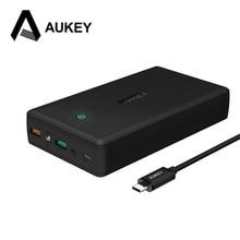 AUKEY 30000 mAh Portable Power Bank Szybkie Ładowanie 3.0 Podwójny USB Bateria Zewnętrzna Ładowarka Powerbank dla iPhone Xiaomi Meizu