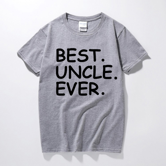 MenS Present T Shirt Best Uncle Ever Holiday Birthday Gifts