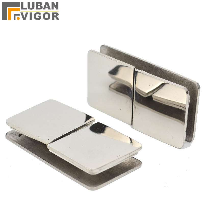 Stainless Steel Double Glass Clamp Clips Holdermirror SurfaceFix Two