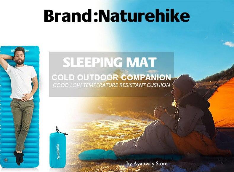 Naturehike NH18Q001-D cama inflável tenda almofadas de