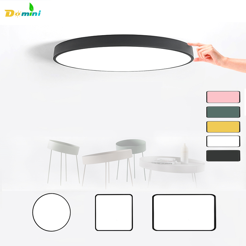 5CM Thin Led Lamp Ceiling Lights with Remote Control or Switch for Living Room Lights 48W Ceiling Modern Lamps Lighting Home