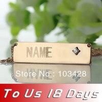 Freeshipping-Personalized Tên Nơi Necklace với Birthstone Bất Kỳ Tên Bar Thương Hiệu Vòng C