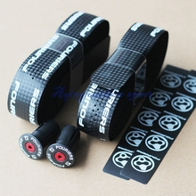 Fouriers Bicycle Drop Handlebar Tape Wraps PU Fixed Gear Road Bike Handle bar Tapes Belt With Holes Pair with ends