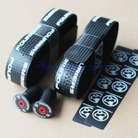 Fouriers Bicycle Drop Handlebar Tape Wraps PU Fixed Gear Road Bike Handle bar Tapes Belt With Holes Red Black