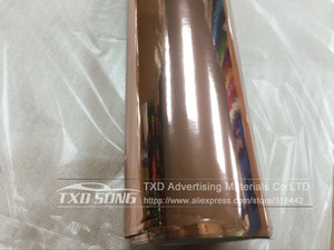 Image 2 - 50CM*1M/2M/3M/4M/5M Roll Car styling High stretchable Mirror rose gold Chrome Mirror Vinyl Wrap Sheet Roll Film Car Sticker