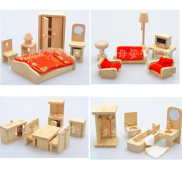 Juguetes para bebés de madera conjunto de muebles de niños juguetes ...