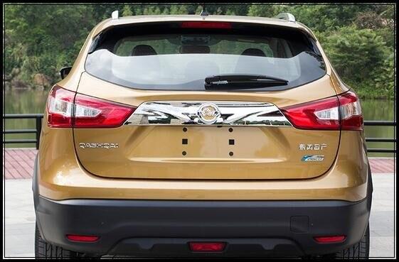 Barre de décoration de coffre arrière de voiture en chrome ABS étoile supérieure, garniture de décoration pour Nissan Qashqai 2016-2018