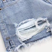 Womens Denim Shorts Sexy Butt Ripped Jeans Shorts FA01