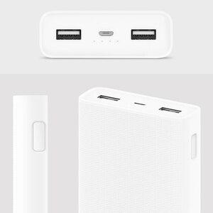 Image 3 - מקורי 20000mAh שיאו mi כוח בנק 2C 2 דרך מהיר טעינה QC3.0 mi Powerbanks כפולה USB יציאות חיצוני סוללה עבור חכם מכשיר