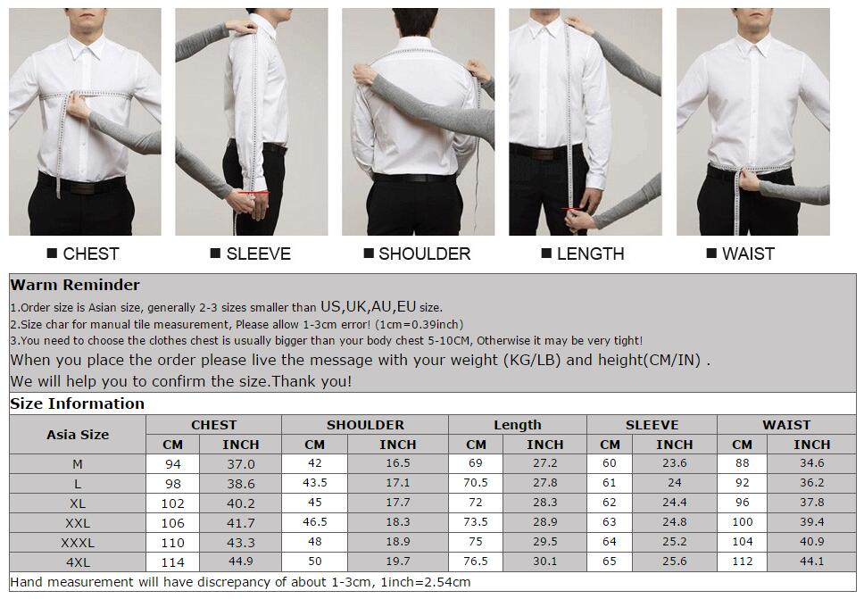 Long sleeve dress shirt measurements
