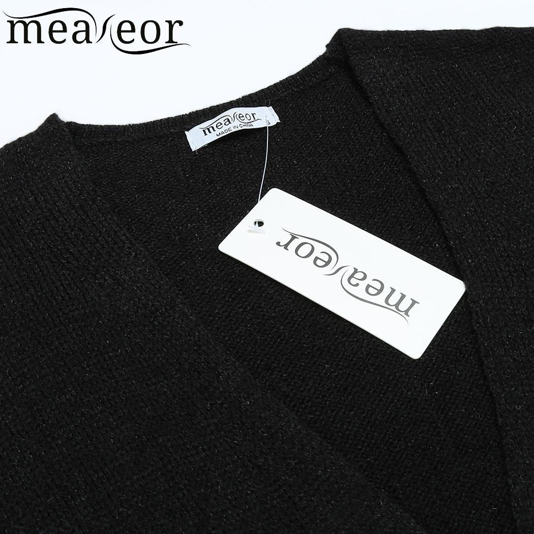 3dac892aae5bc3 Meaneor 2018 Herbst Mode Frauen Strickjacke Pullover Daumen Loch Langarm  Solide Öffnen Front Taschen Winter Pullover Strickjacken Tops in Meaneor  2018 ...