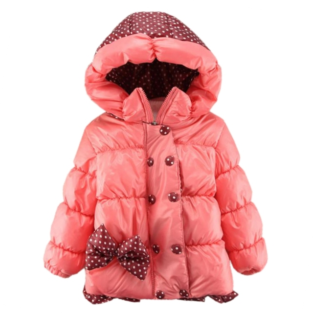 089acb7be 2018 Warm Thick Baby Toddler Winter Jacket Girls Down Coat Cotton ...