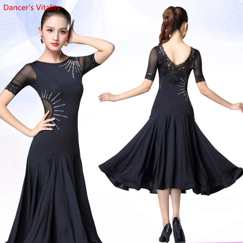 Women Ballroom Dance Dress Competition Clothes Adult Ballroom Waltz Latin Dance Stage Performance/Practice Costumes