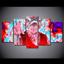 Modern Cartoon Canvas Pictures Goku Super Saiyan Blue Kaio-Ken HD Spray Painting Wall Decoration