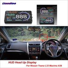 Liandlee For Nissan Almera Teana L33 Maxima A36 2013-2018 Safe Driving Screen OBD Car HUD Head Up Display Projector Windshield цены онлайн