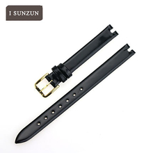 ISUNZUN Women Real Leather 10mm Watch Strap For TISSOT T003 Top Quality Customed Watch Band For TISSOT T003.209 Fashion band все цены