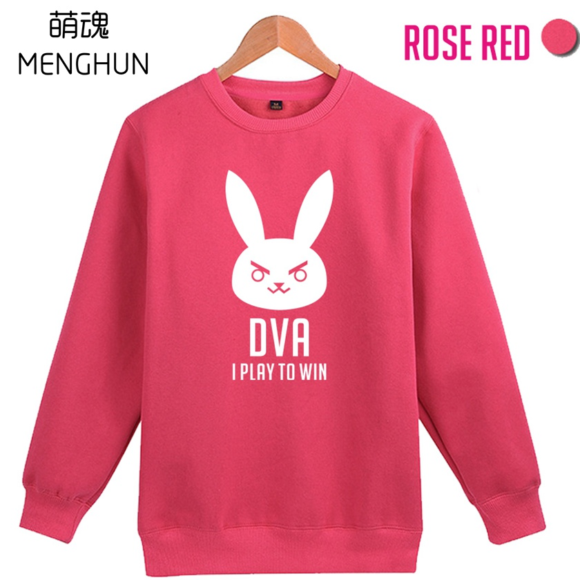 DVA Song Hana I play to win round collar new design printing rose pink hoodies gift for girl friend ac510 image