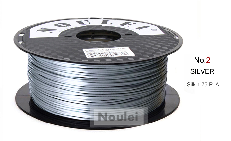 2 3D Printer Filament 1.75 SILK PLA SILVER