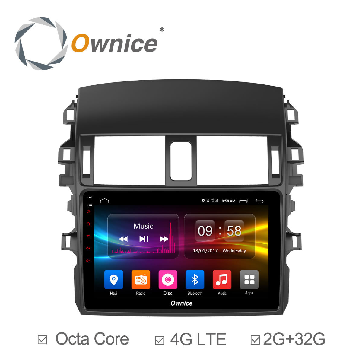 Ownice C500+ Android 6.0 car DVD player Octa Core for Toyota corolla 2009 2010 2011 2012 2013 2GB RAM 32GB ROM Support 4G LTE
