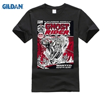 Gildan Ghost Rider Comic Book Cover Print Mens Graphic T Shirt